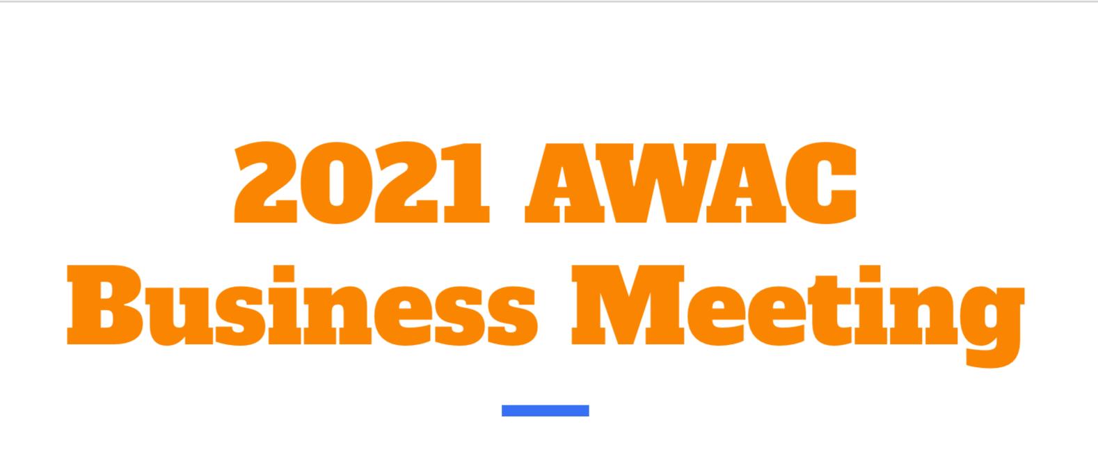 AWAC Business Meeting image